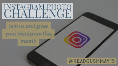 Read & Gush monthly Photo Challenge on Bookstagram - May 2019