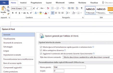Pannello opzioni Word: come personalizzare le opzioni