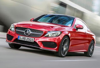 Mercedes Benz C Class Coupe (red)