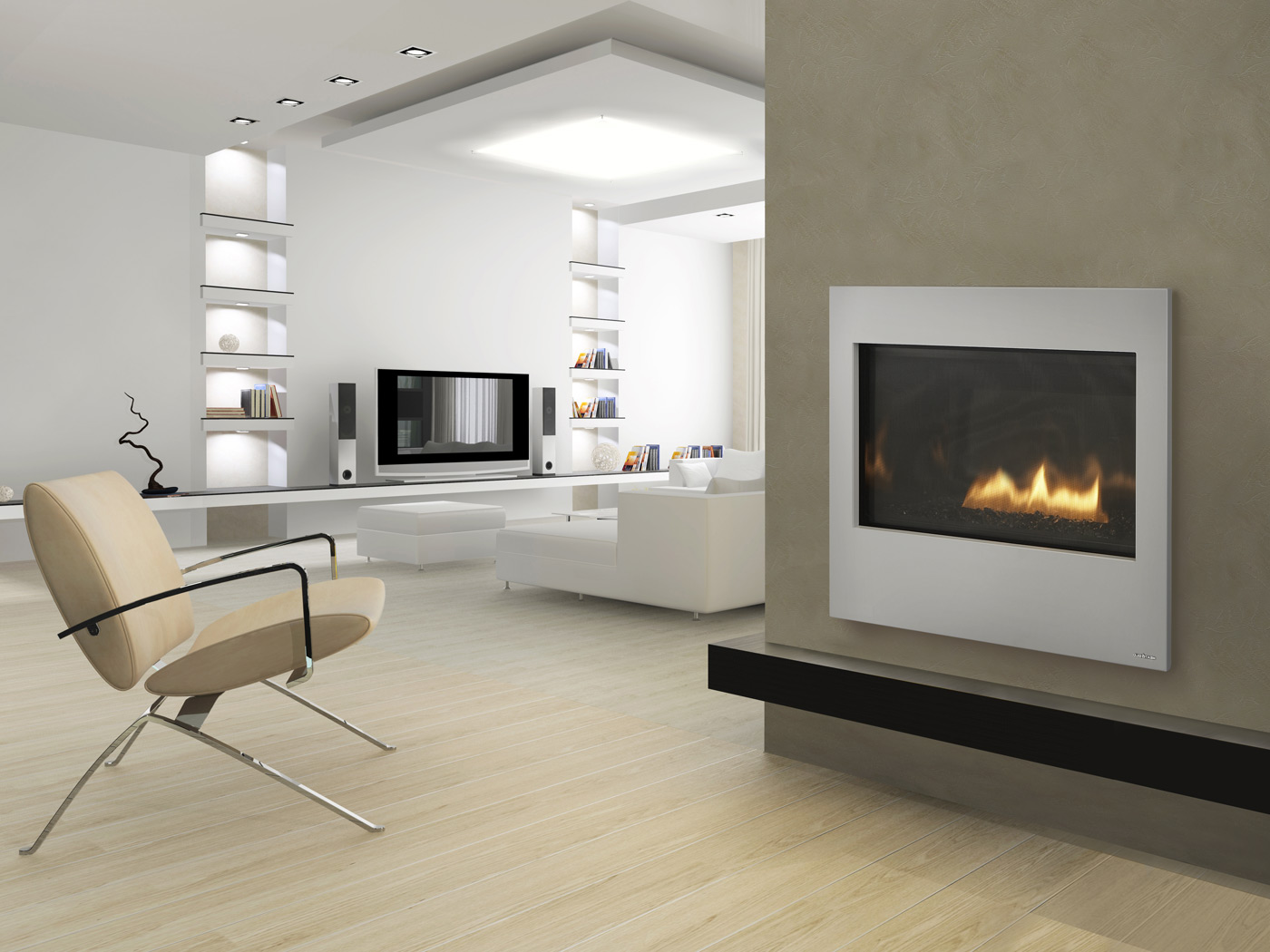 Fireplaces  Gas fireplace
