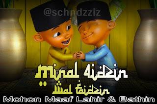 Gambar Kartun Lucu Minta Maaf Ramadhan - Idul Fitri 2018