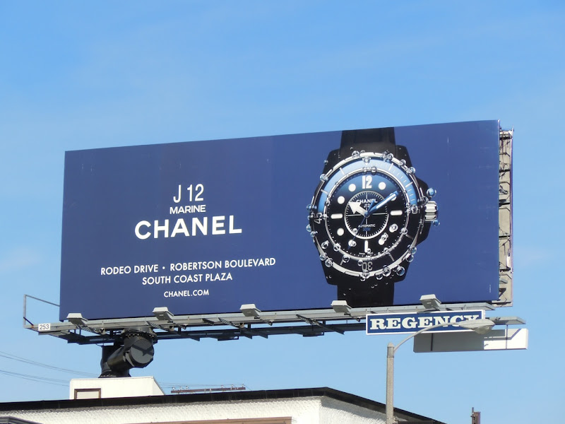 Chanel watch billboard