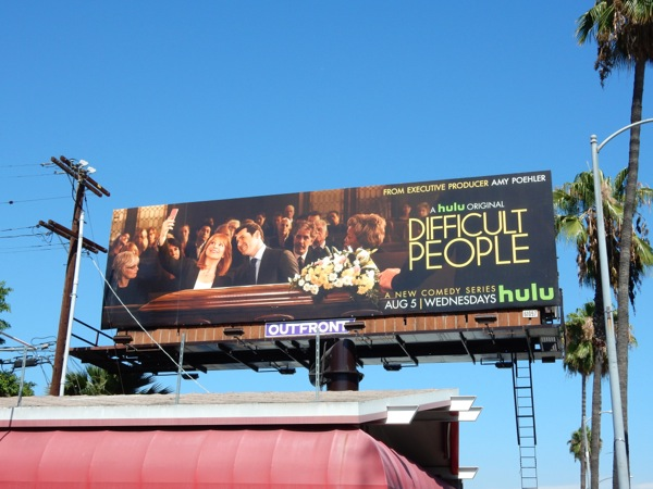 Difficult People Hulu series billboard
