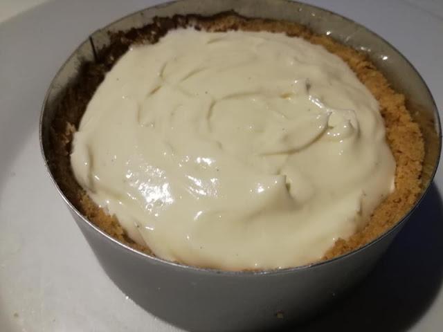Cheesecake nello stampo per dolci