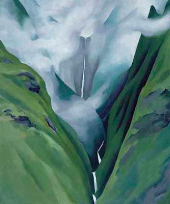 """""""Waterfall"""" No. III, Iao Valley, Hawaii by Georgia O'Keeffe, 1939"""