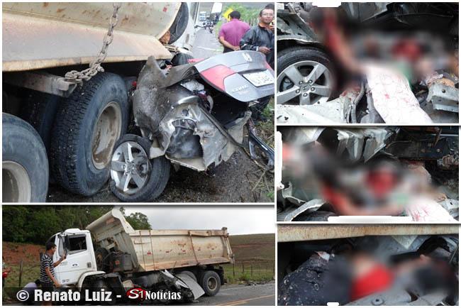 Colizão entre Honda Civic e casaba deixa 4 vitimas fatais em Alagoas Fotos: Renato Luiz