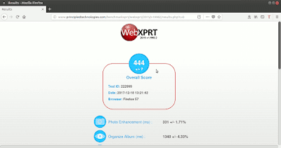 WebXPRT Firefox acelerado
