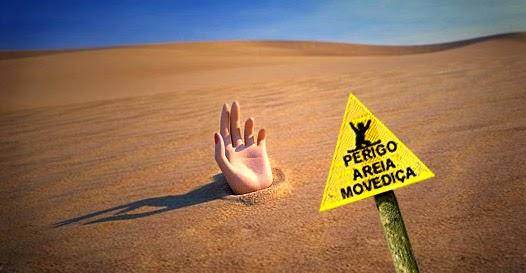 perigo areia movediça