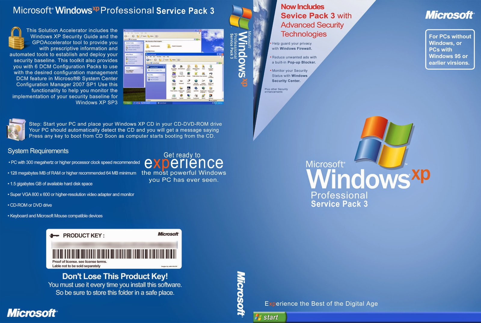 Windows Customs: Windows XP Professional x86 Service Pack 3