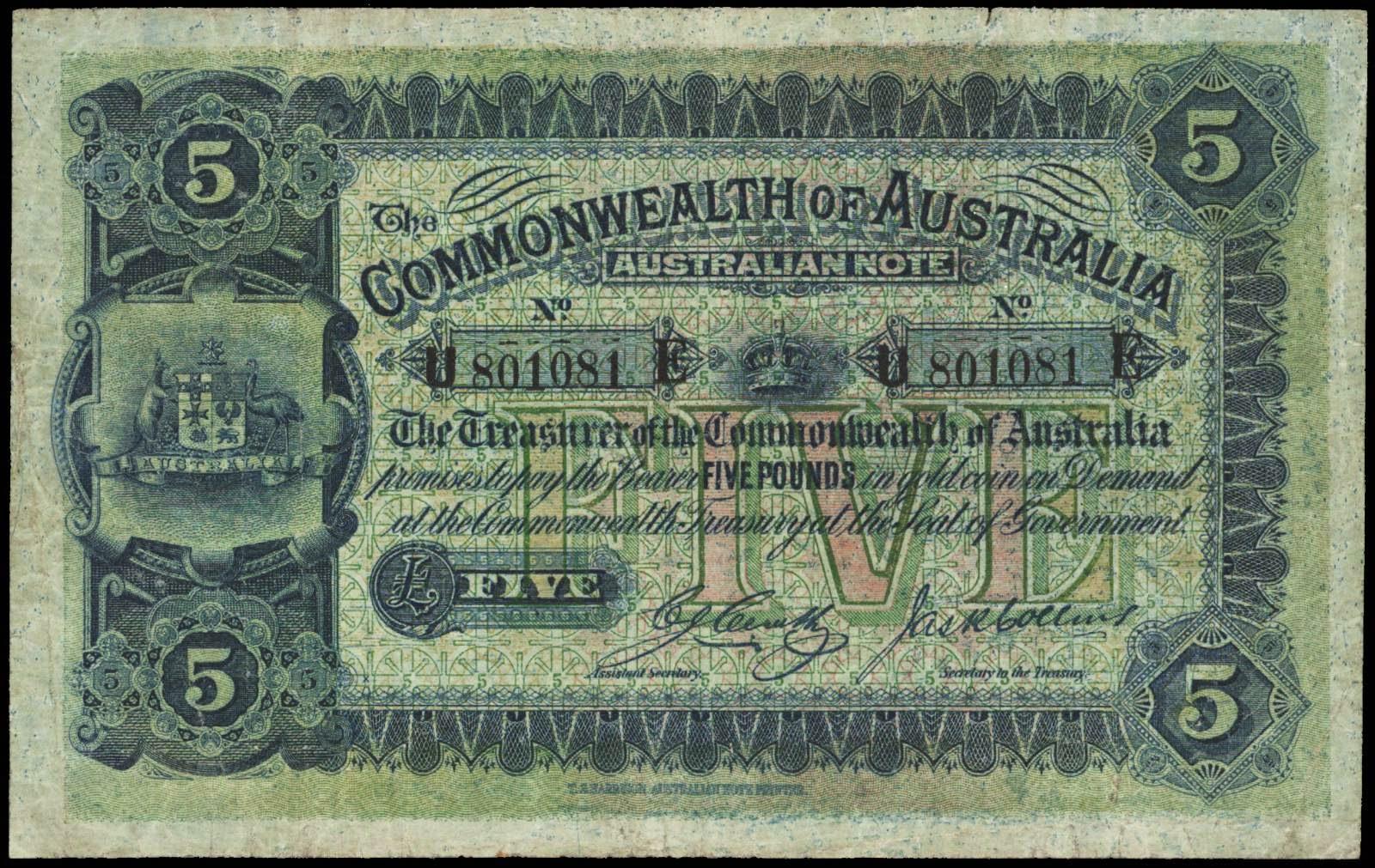 Australian five pound note