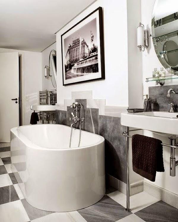 Calming Bathroom Ideas: [Decotips] El Baño ¡A CUADROS!
