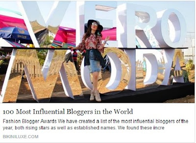Voted among the 100 Most Influential Bloggers in the World