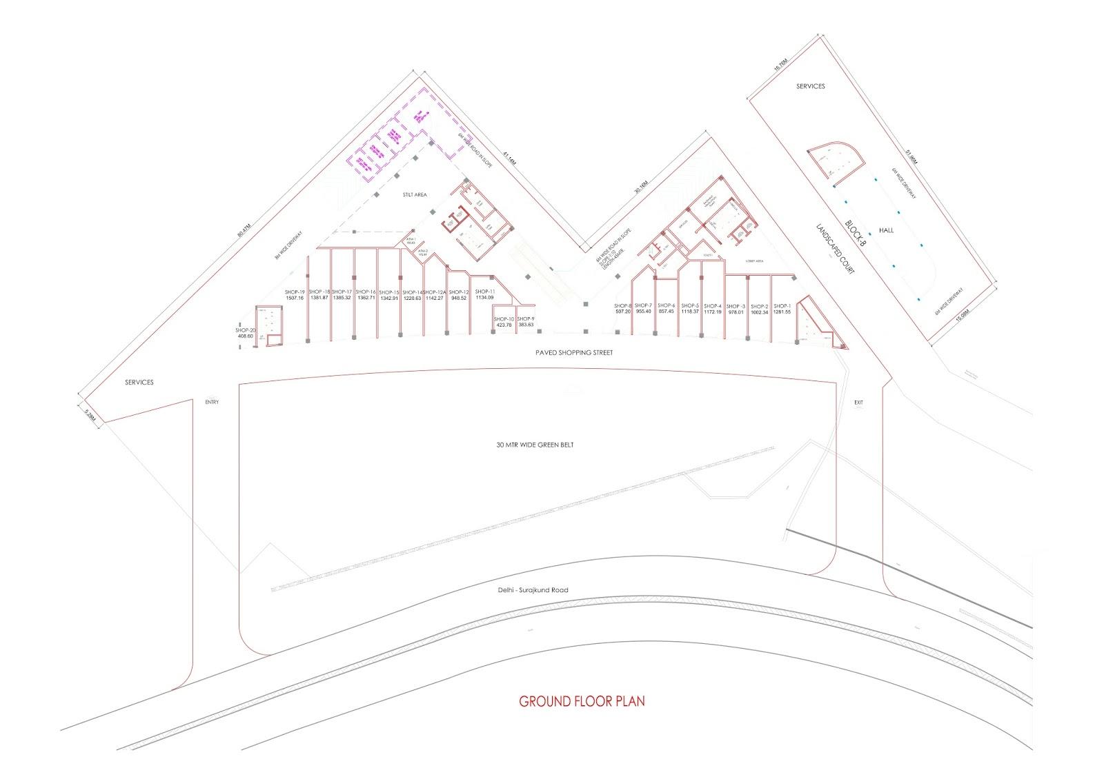 Ground Floor Plan - Commerce Business District