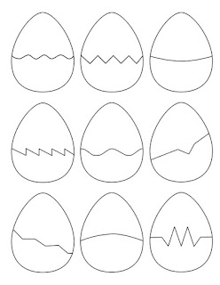 The Puzzle Den - Easter Egg Puzzle Shapes Template