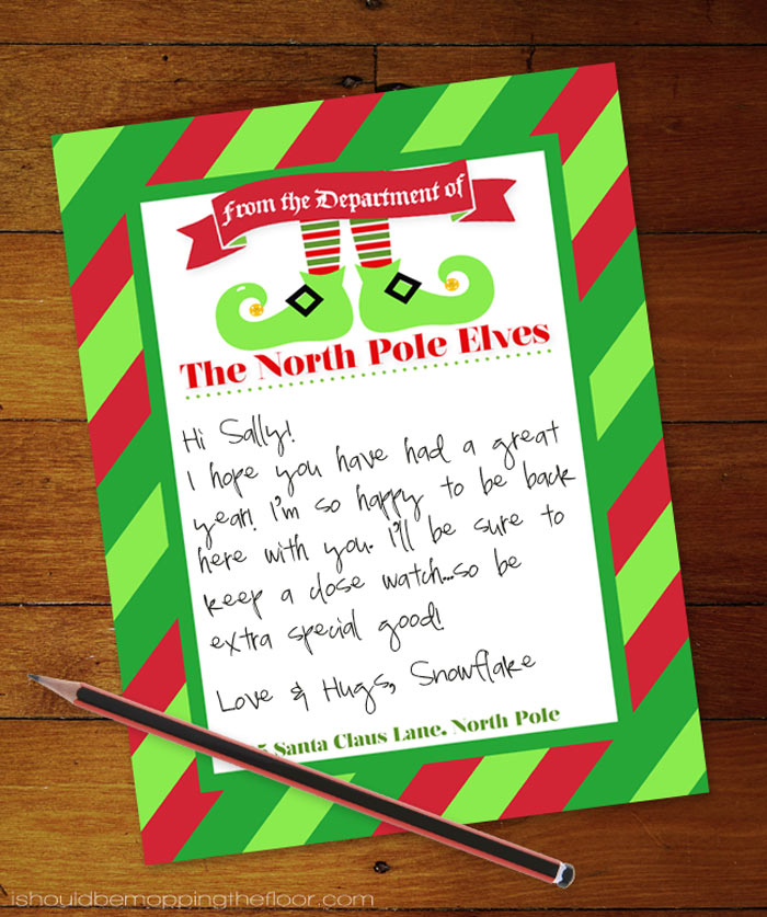 Elf Printable Letterhead