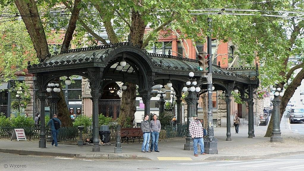Het pittoresk ogende Pioneer Square