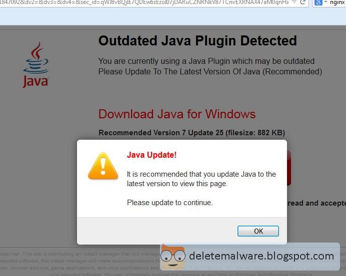 Fake Java Update Virus Removal