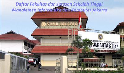 Daftar Fakultas dan Jurusan Sekolah Tinggi Manajemen Informatika dan Komputer Jakarta