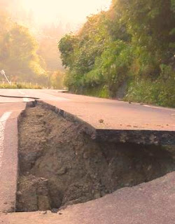 Road Surface Subsidence  in Ojiya City