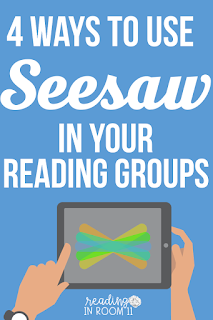 Seesaw is an amazing tool for both teachers and students. Click here to check out the 4 ways that I use Seesaw with my reading groups!  One of the great things about Seesaw is that you don't always have to have all of these activities pre-planned; students can take and add their own pictures/videos.