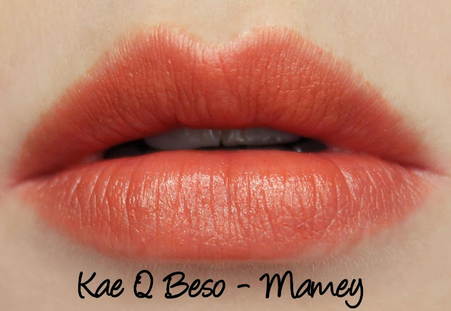 Kae Q Beso Balm - Mamey swatches & review