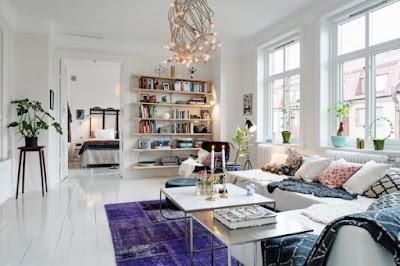 Desain Ruang Tamu Gaya Skandinavia