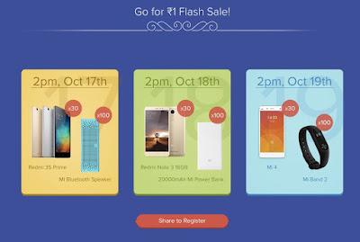 Xiaomi Mi Diwali Rs 1 Flash Sale: Buy Redmi 3s, Note 3, Mi4 and More @Rs 1