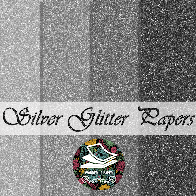 Papeles Plateados: Glitter