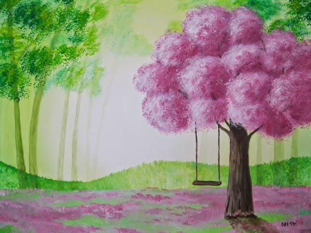 Das Buchgelaber Gemalt Armloses Model Unter Dem Baum Der Traume