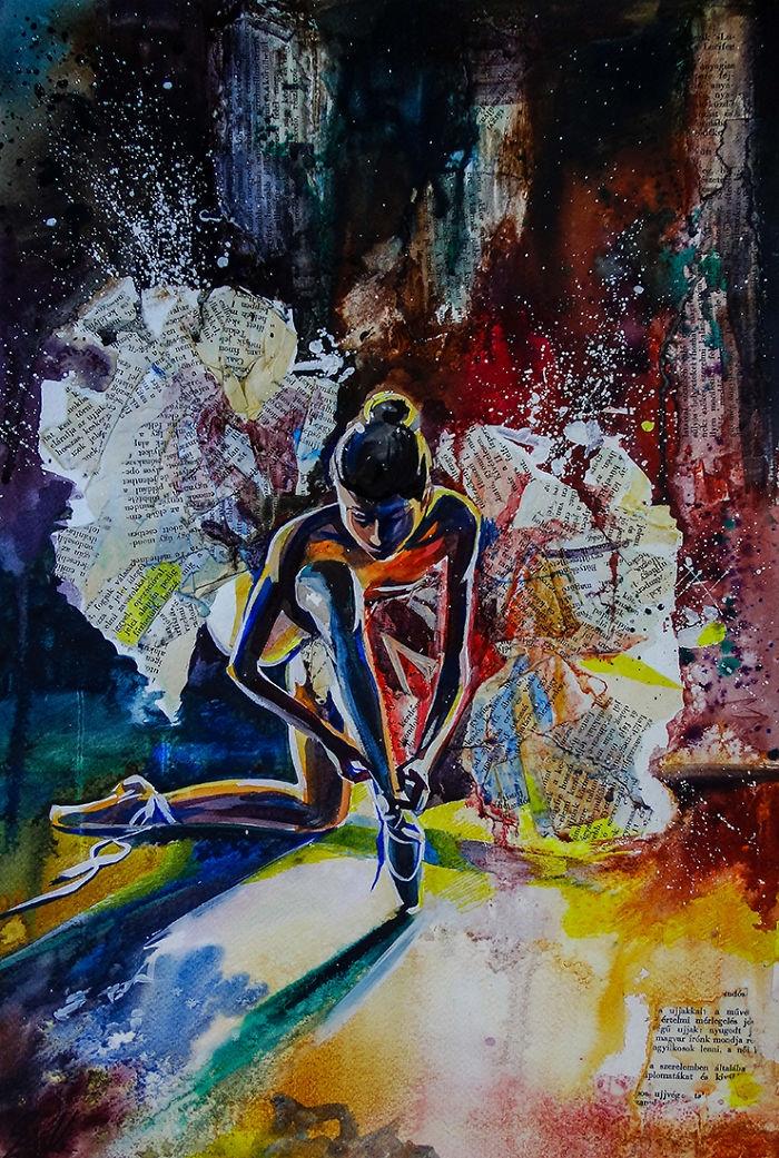 11-Wings-Vivien-Szaniszlo-Movement-Captured-with-the-Dancing-Ballerina-Paintings-www-designstack-co
