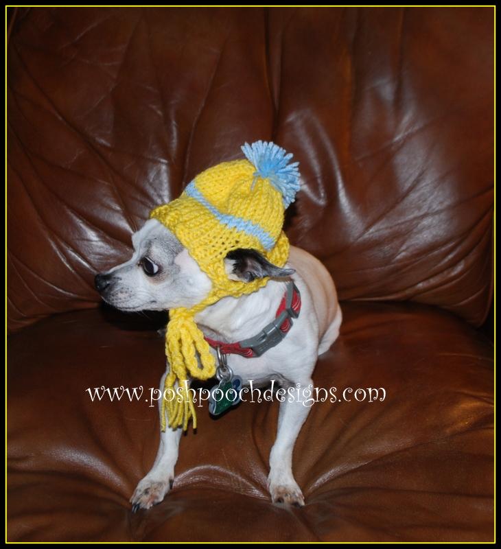 Posh Pooch Designs Dog Clothes Chihuahua Beanie Hat Knitting