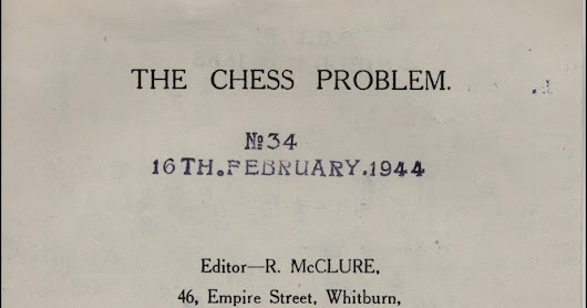 The Chess Problem, a scarce periodical