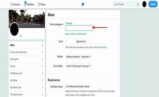 Cara Mengganti Nama Pengguna Twitter