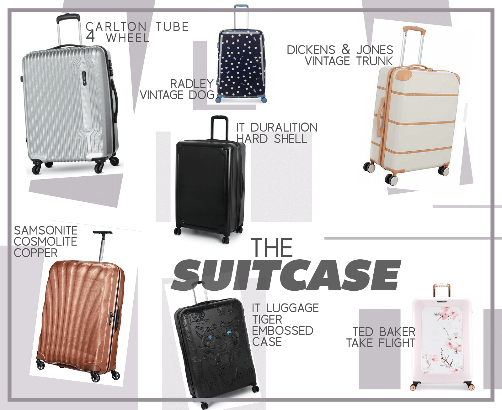 travel essential wishlist suitcase