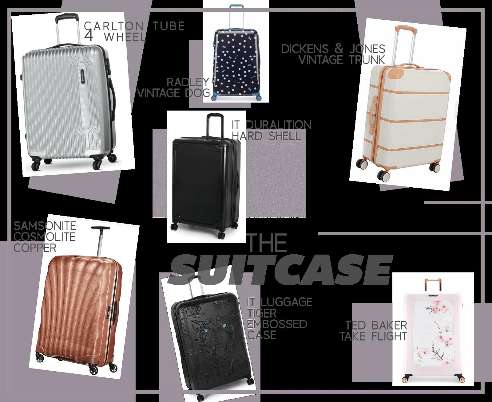 travel essential wishlist suitcase