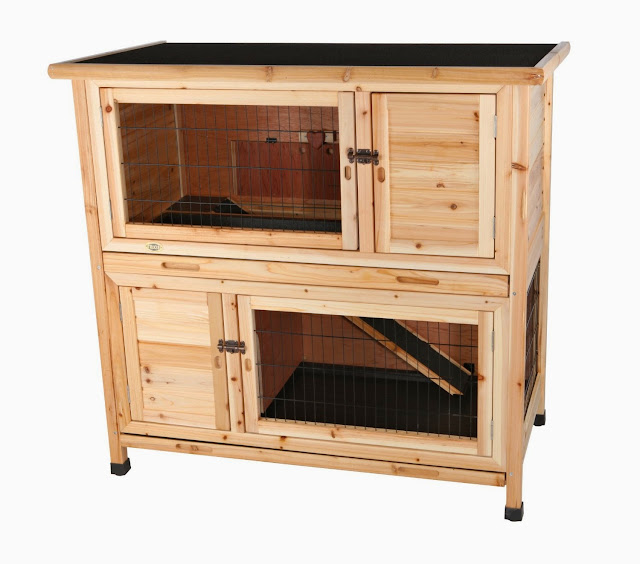 Spiffy pet products large indoor rabbit hutch diy rabbit for How to make a bunny hutch