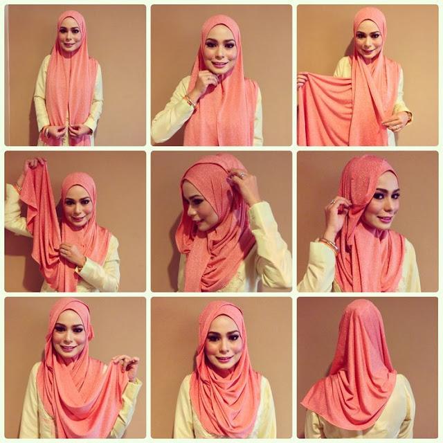 tutorial hijab modern simpel style 1