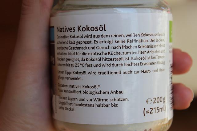 Rossmann Enerbio Kokosöl nativ Inhaltsstoffe Produkteigenschaften Anwendung