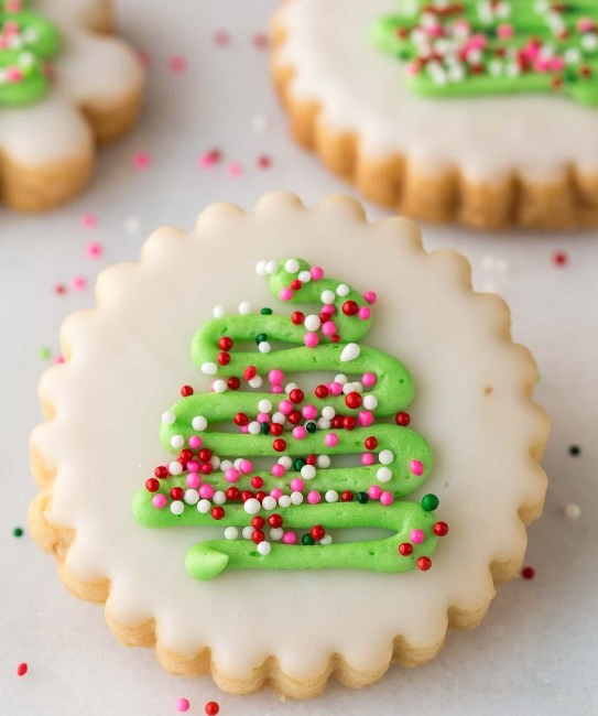 Christmas Shortbread Cookies #cookies #christmasdessert