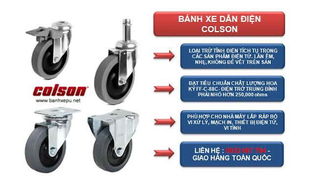 Bánh xe công nghiệp Colson tại Biên Hòa www.banhxepu.net