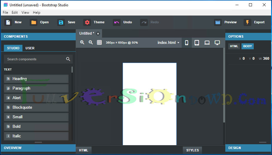 Bootstrap Studio Professional Edition Latest Full