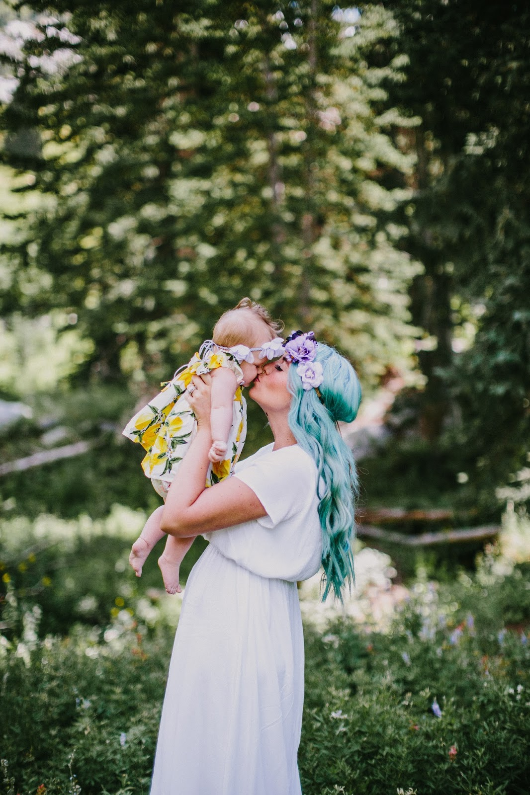 Blue Hair, Love Winnie James, Floral Headbands