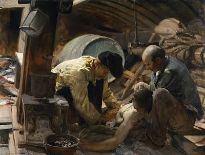 """Joaquín Sorolla, """"¡Aún dicen que el pescado es caro!"""", 1894"""