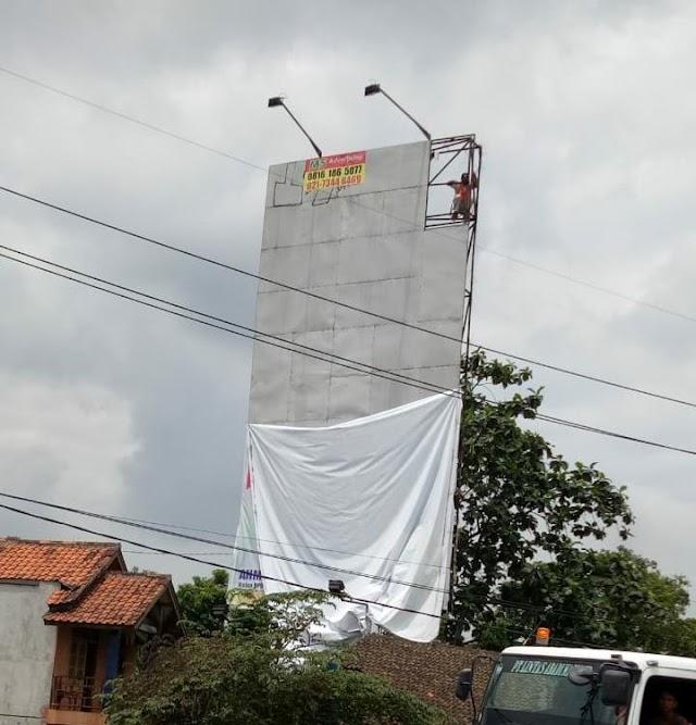 Tidak Berizin, Baliho Jokowi - Ma'ruf Amin Di Cikupa Dicopot