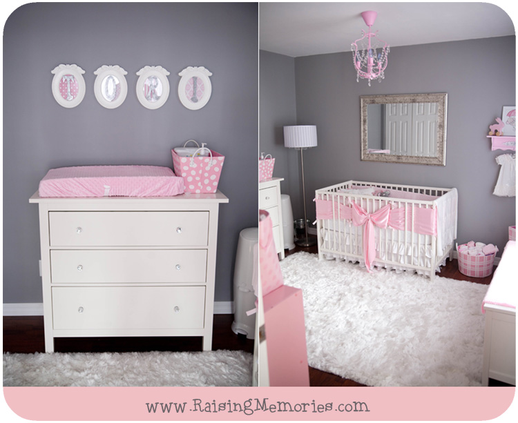 Chandelier Baby Girl Nursery by www.RaisingMemories.com