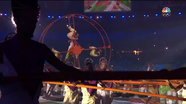 Hamster wheels African slaves Rio 2016 Olympic Games Opening Ceremony