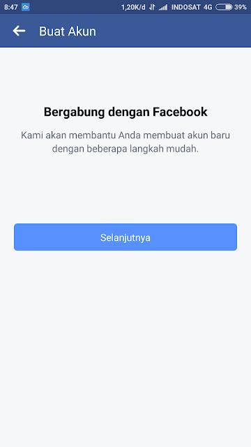 bergabung dengan facebook
