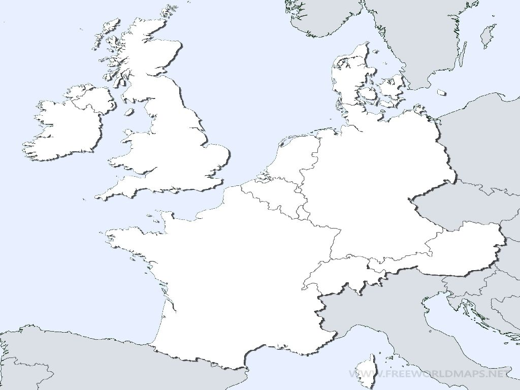 Blank Map Of Europe Worksheet