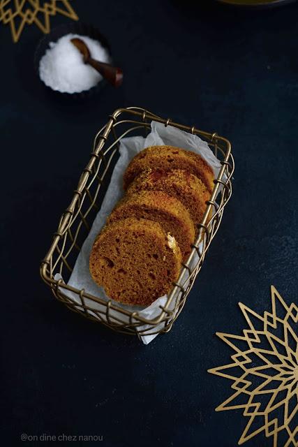cake pour foie gras , repas de noël , potimarron , cake , gouter , gourmand