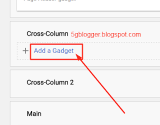 add new gadget in blogger layout